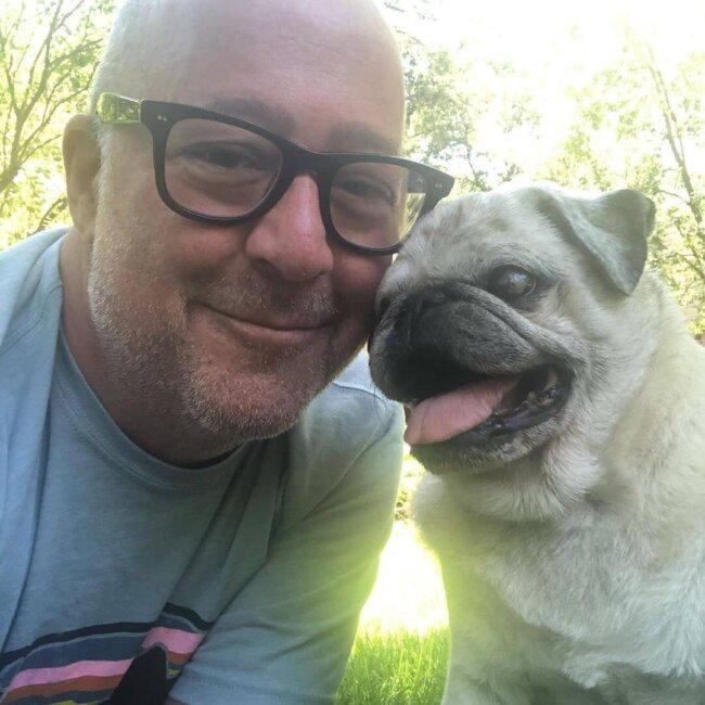 Man and his Pug
