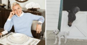 Ellen and Her Dog Wolf