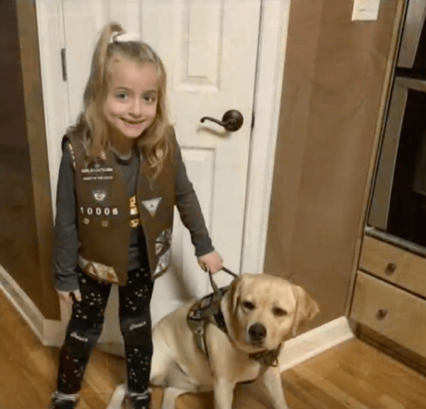 Girl Scout and Service Dog