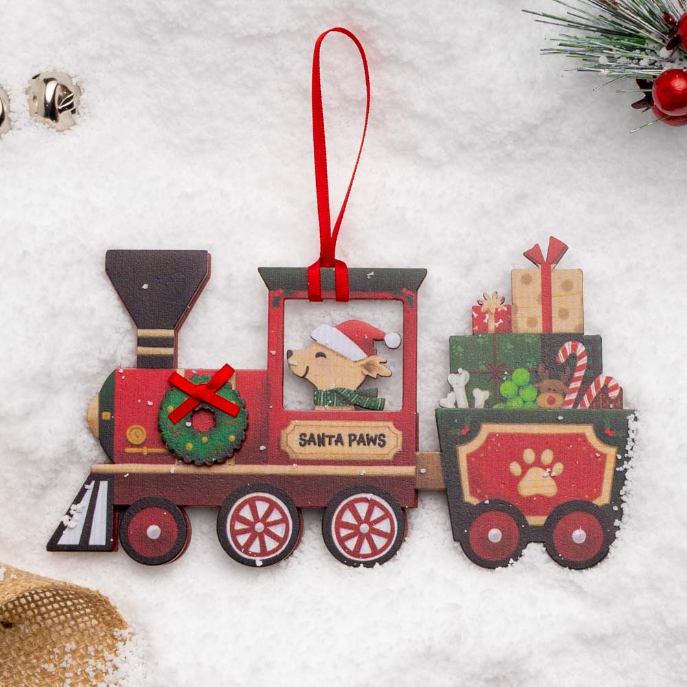 A Christmas Miracle Rescue Ornament 🎄 Santa Paws Train