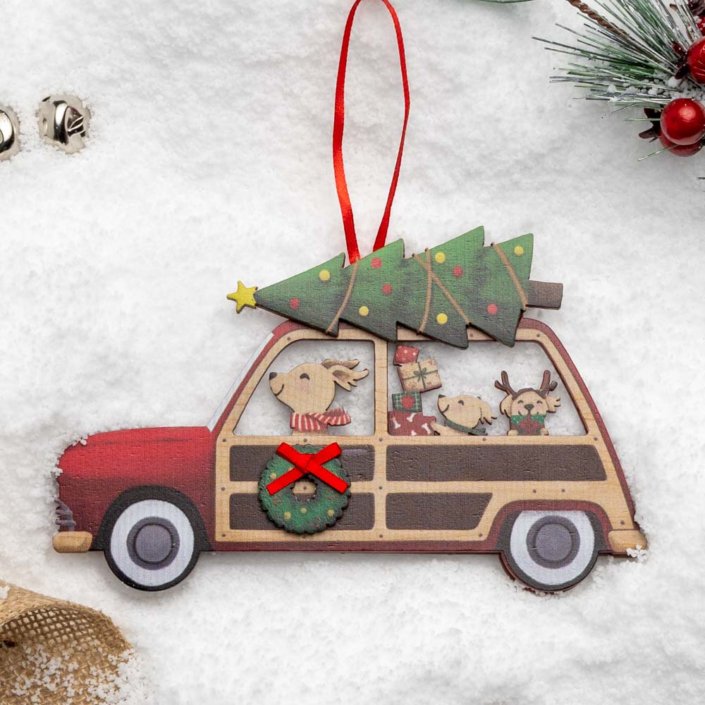 A Christmas Miracle Rescue Ornament 🎄 Classic Woodie