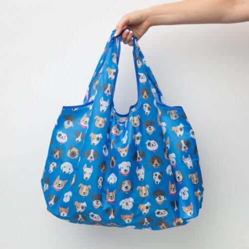 Dog Love Large Organic Tote Bag