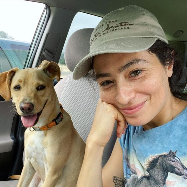 Melissa Villaseñor and Dog