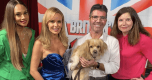 Simon Cowell Meets Rescue Dog