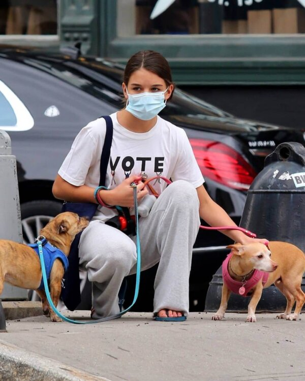 Suri Cruise and Her Dogs