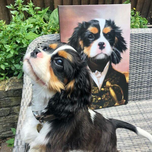 Puppy Renaissance Portrait
