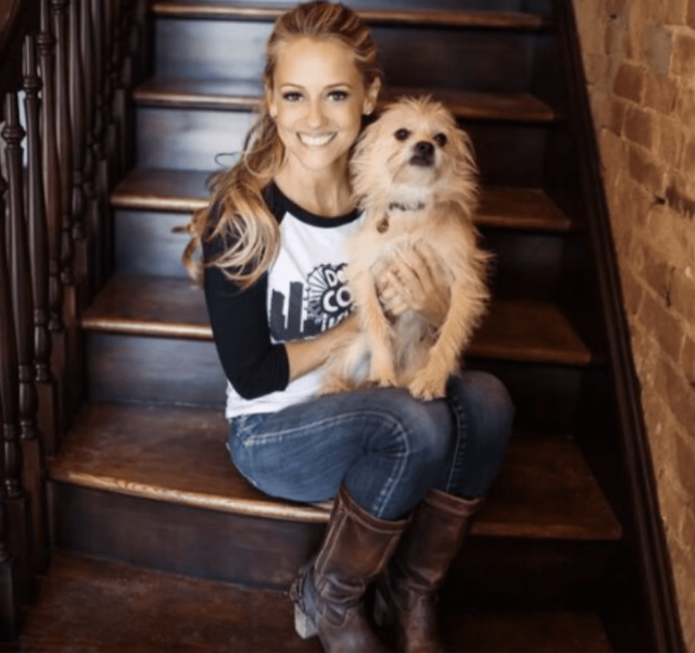 Nicole Curtis with Rescue Dog