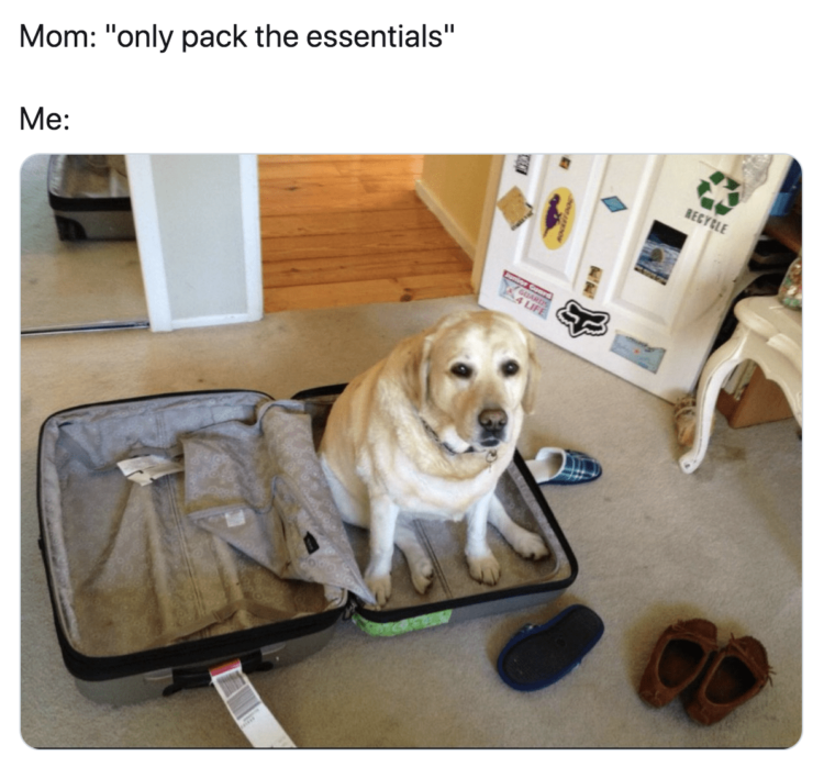 Only Pack the Essentials