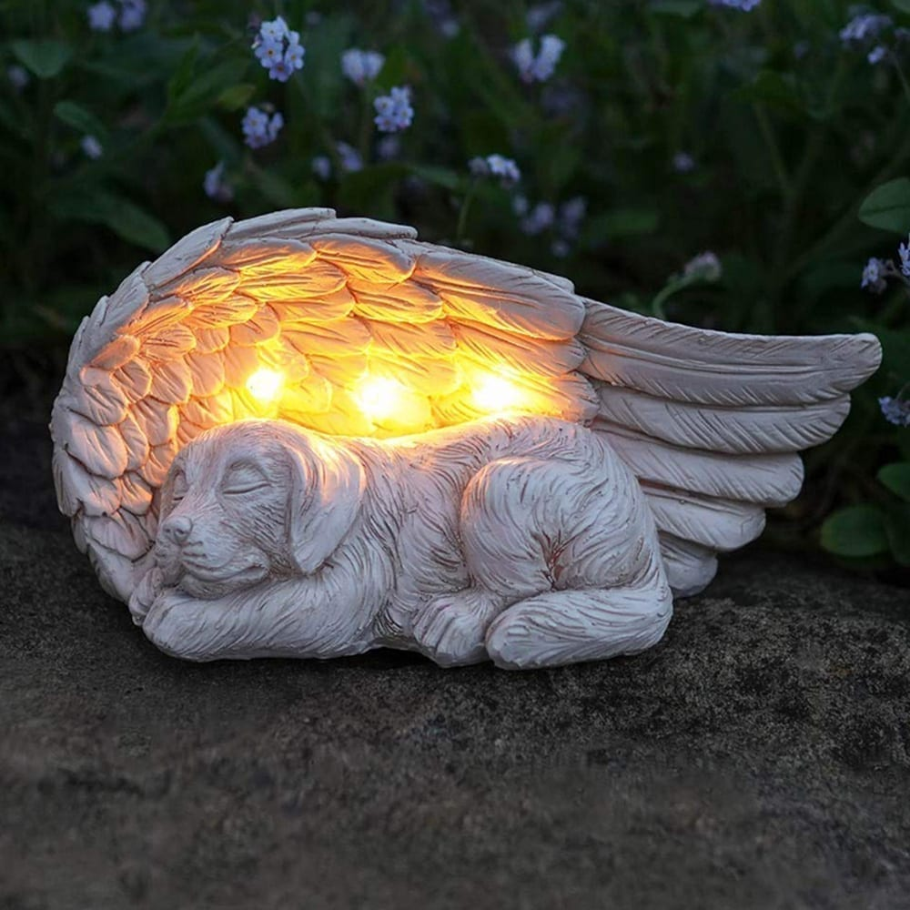 Forever My Guardian Angel Pup Garden Solar Light