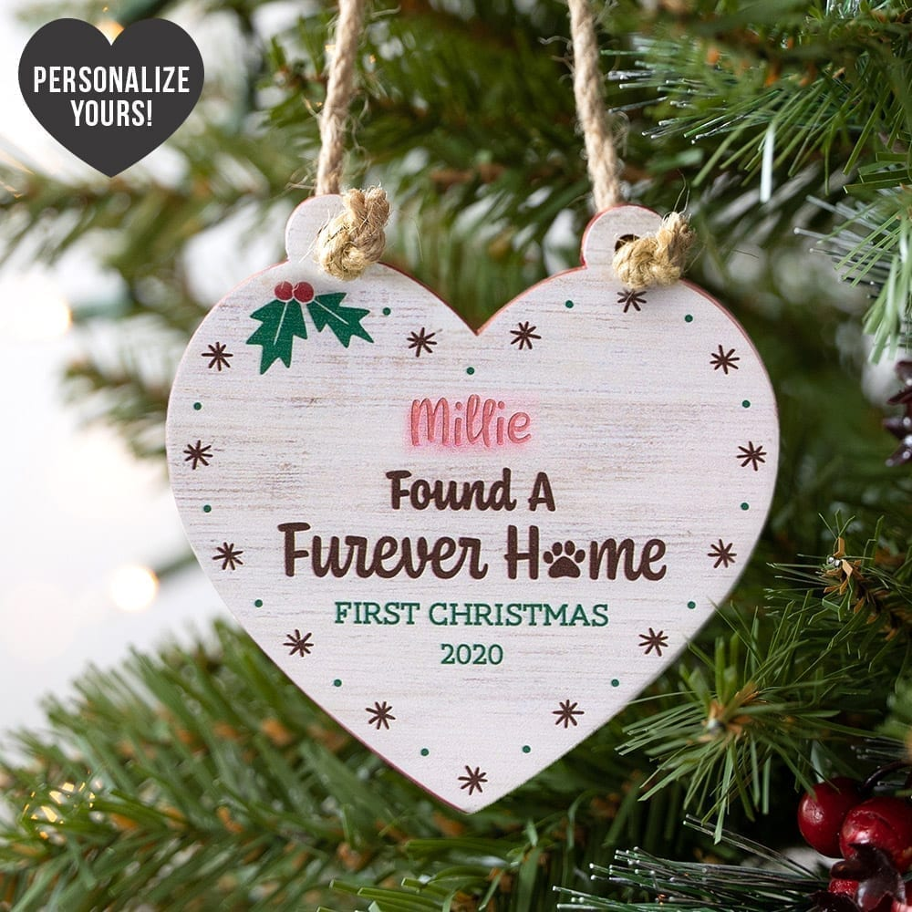 Image of I Found My Furever Home Personalized Heart Ornament - 43% Off!