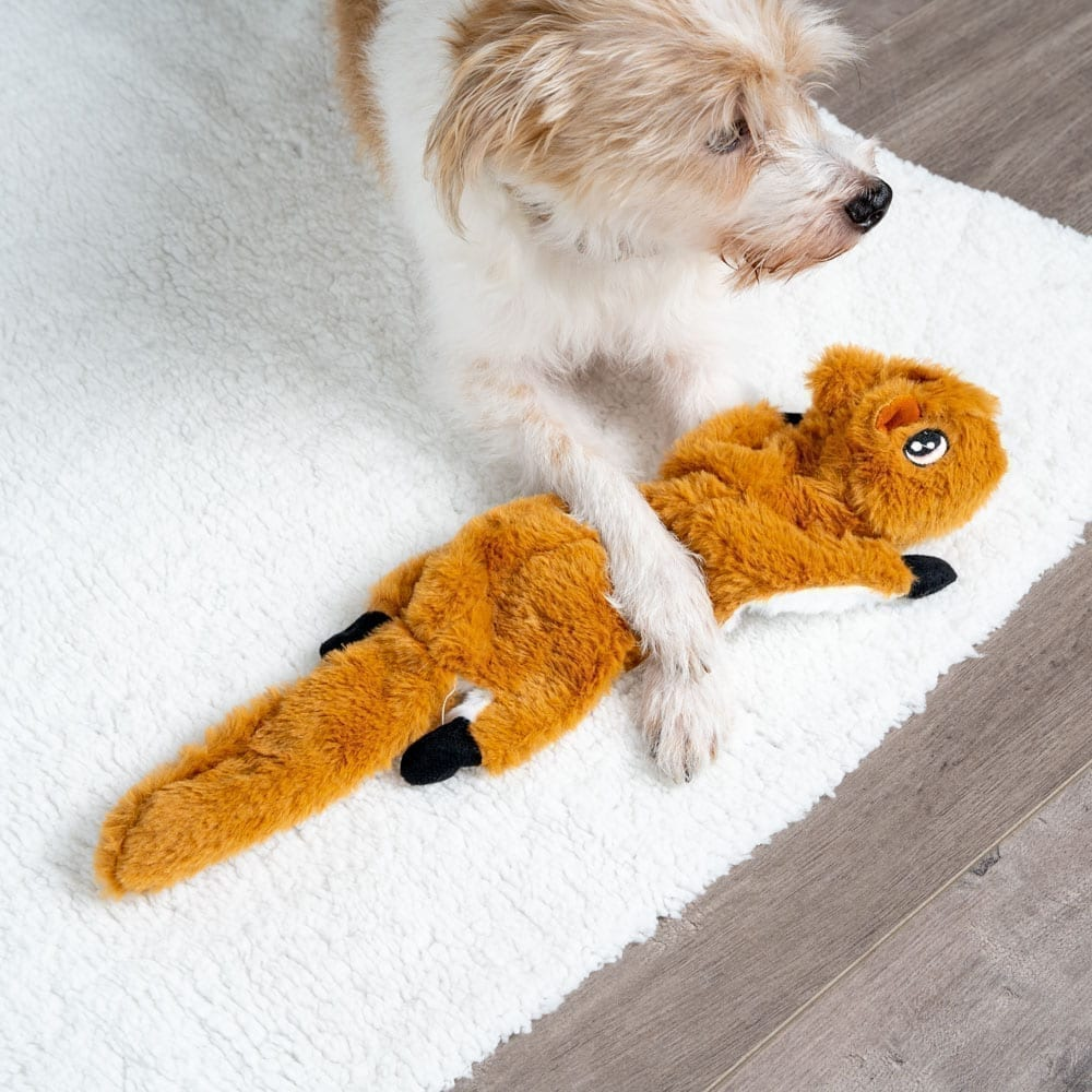 Image of Frankie The Fox No Stuffing Squeaky Plush Dog Toy