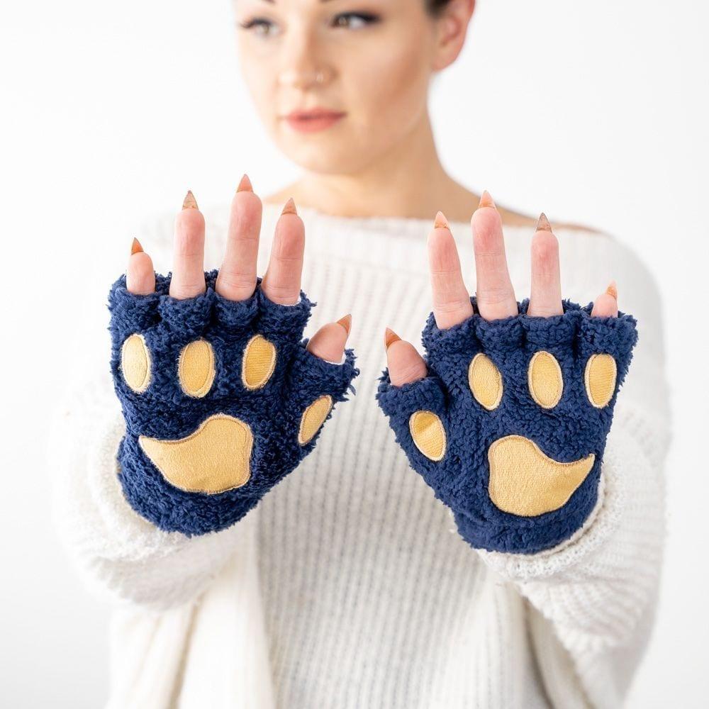 Giving Paws Warm & Fuzzy Gloves- Denim