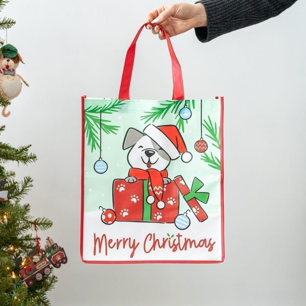 Merry Christmas 🎄 Pup Grocery Bag