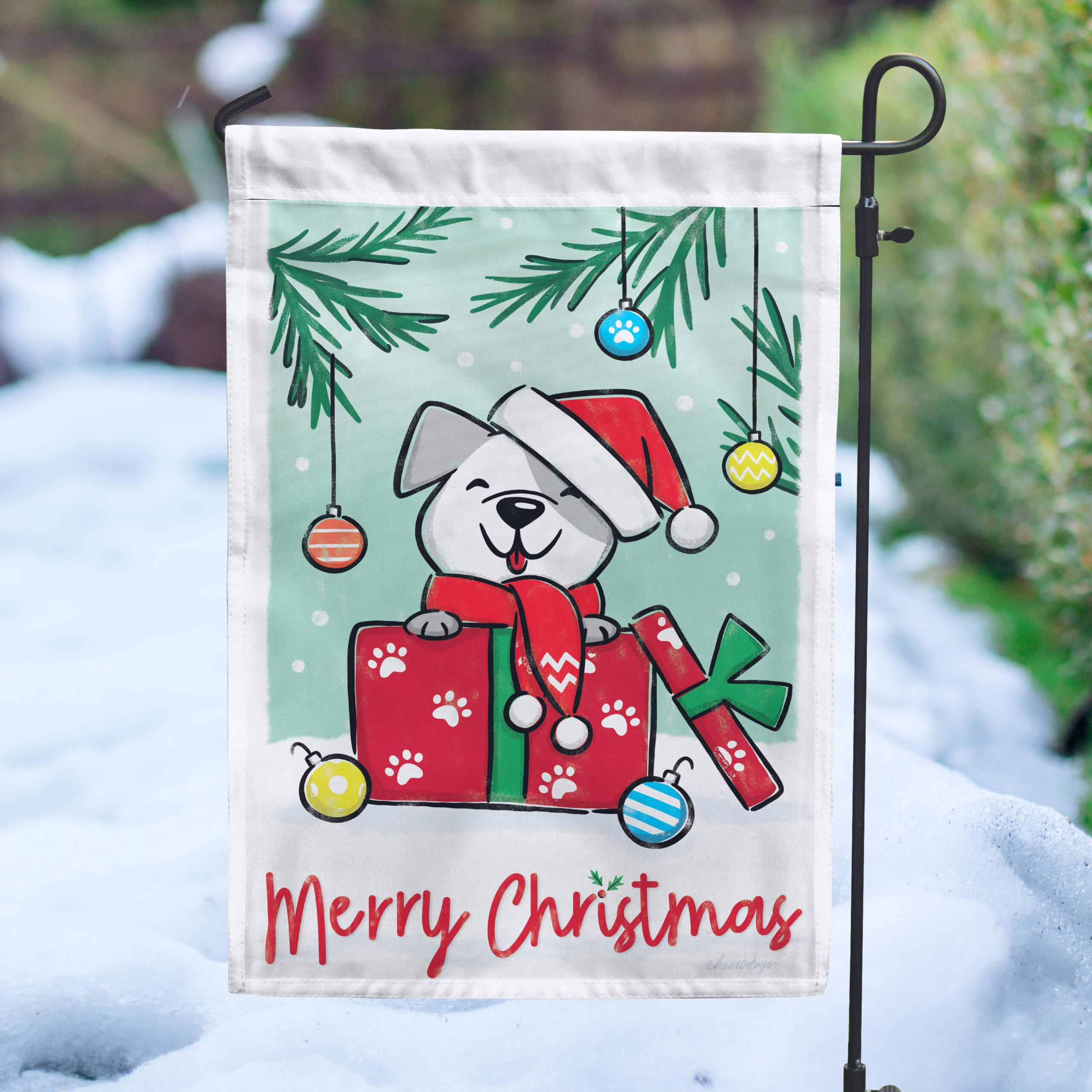 Image of Merry Christmas Pup Garden Flag 🎄 Deal 40% Off!