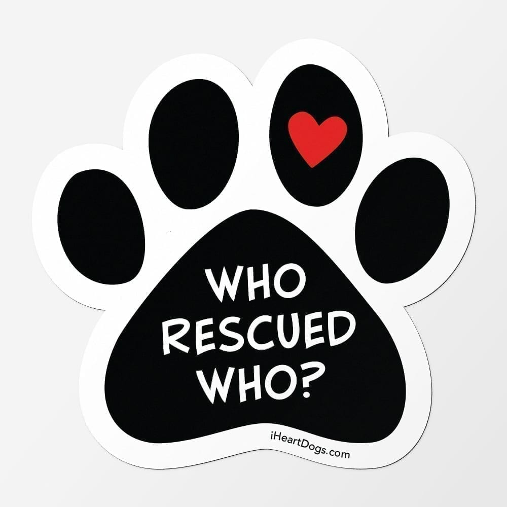 Who Rescued Who? Car Magnet