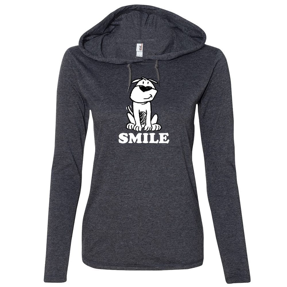 Smile ResQ - Heather Grey Fitted T-Shirt Hoodie 🐾  Deal 20% Off!