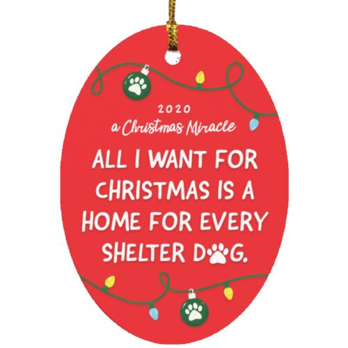 All I Want For Christmas 2020 Ornament 🎄 Donates 30 Meals To Shelter Dogs!