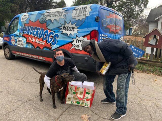 Homeless Man Saves Dogs