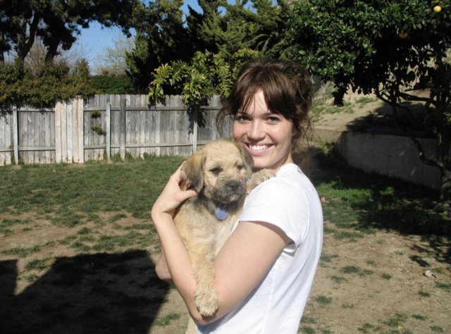 Mandy Moore with Rescue Puppy