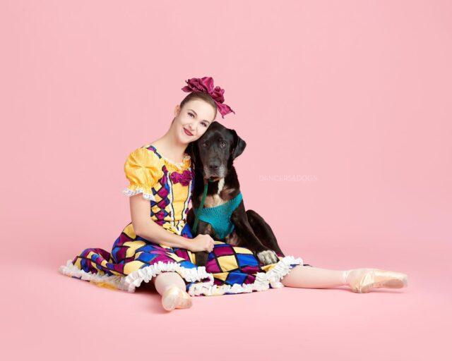 Dancer Hugging Dog