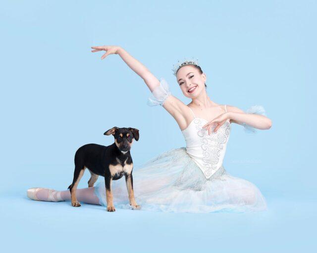 Dancer with puppy
