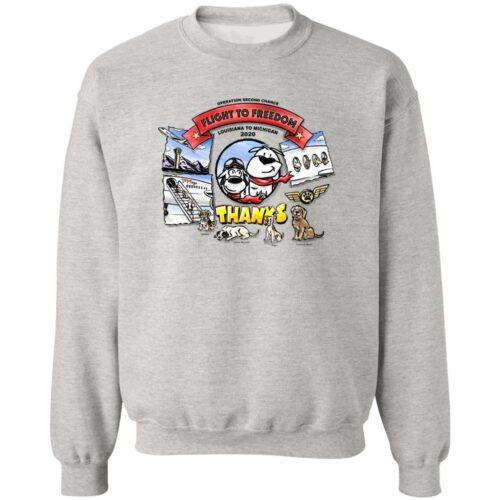 Second Chance Movement™️  – LA To MI 2020 ✈️ Flight to Freedom Sweatshirt (Grey)