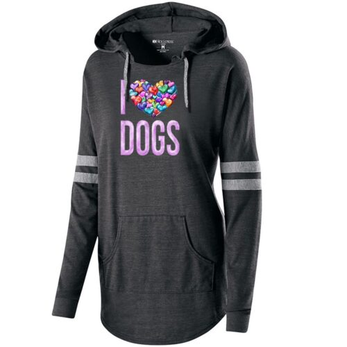 For The Love Of Dogs Black Varsity Slouchy Hoodie 🐾 Deal 20% Off!