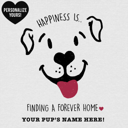 Happiness Is A Forever Home Personalized Slouchy Tee Heather White