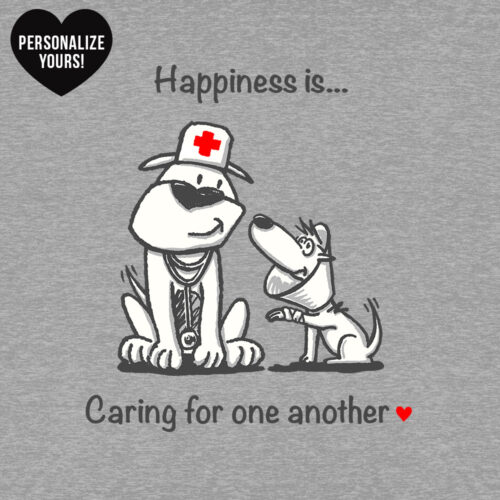 Happiness Is Caring For One Another Personalized Sweatshirt Heather Grey