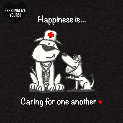 Happiness Is Caring For One Another Personalized Premium L/S Black