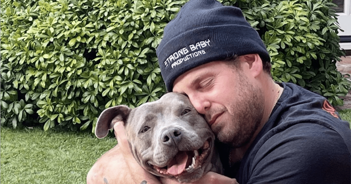 Jonah Hill and Rescue Dog