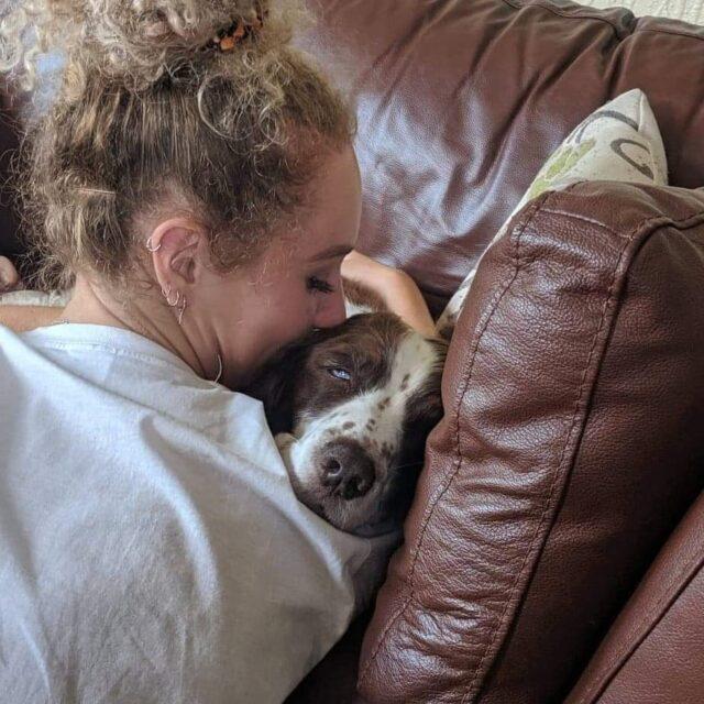 Kissing Senior Dog