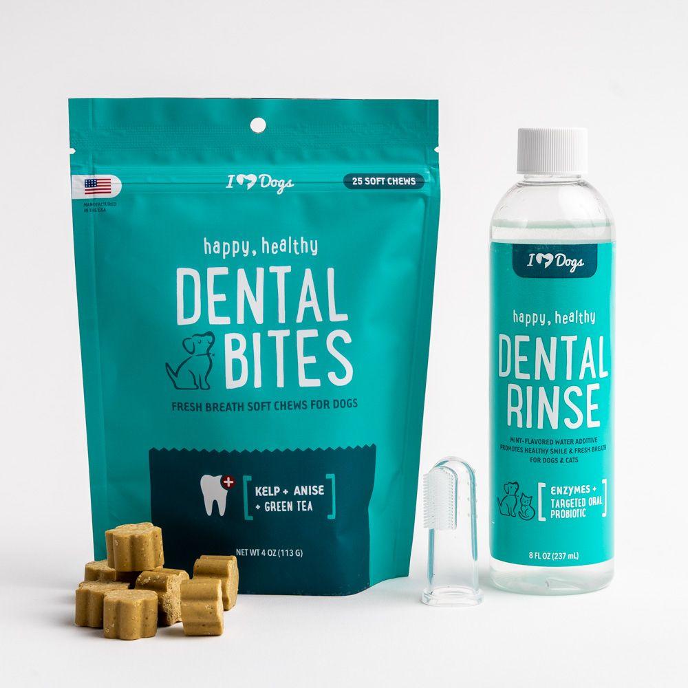 Dental Care Bundle - Dental Chews, Dental Rinse and Toothbrush - 46% Discount!