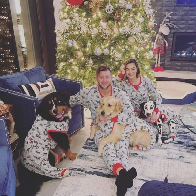 Tim Tebow Dog Christmas Pajamas