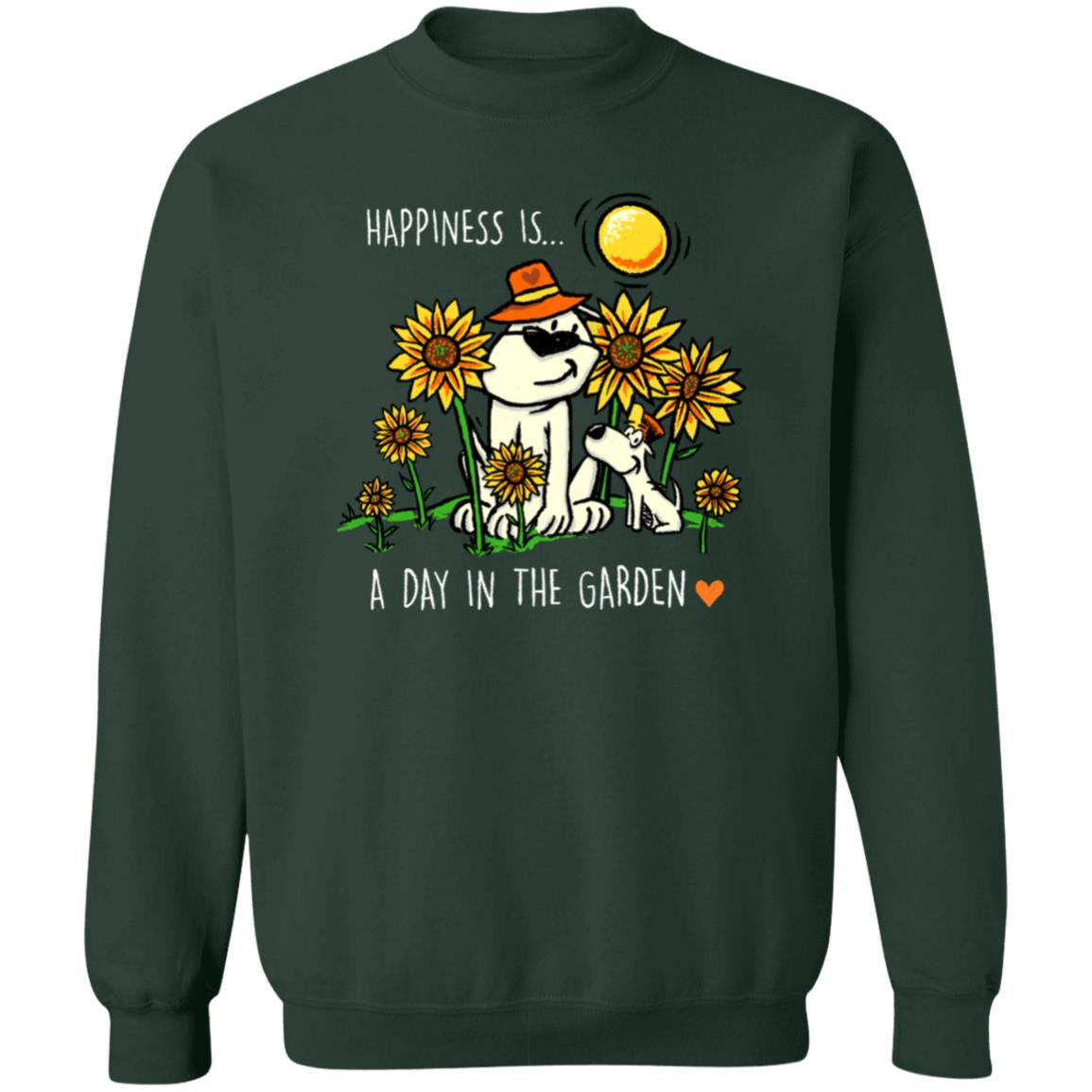 Happiness Is A Day In The Garden Sweatshirt Green 🐾  Deal Up To 25% Off!