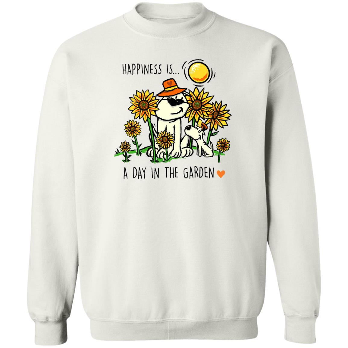 Happiness Is A Day In The Garden White Sweatshirt 🐾  Deal Up To 25% Off!