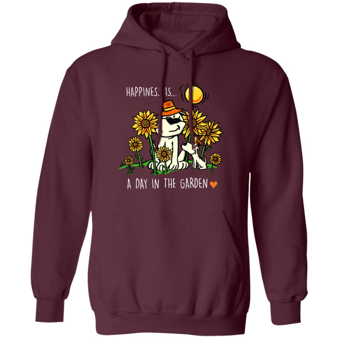 Happiness Is A Day In The Garden Maroon Pullover Hoodie 🐾 Deal Up To 25% Off!