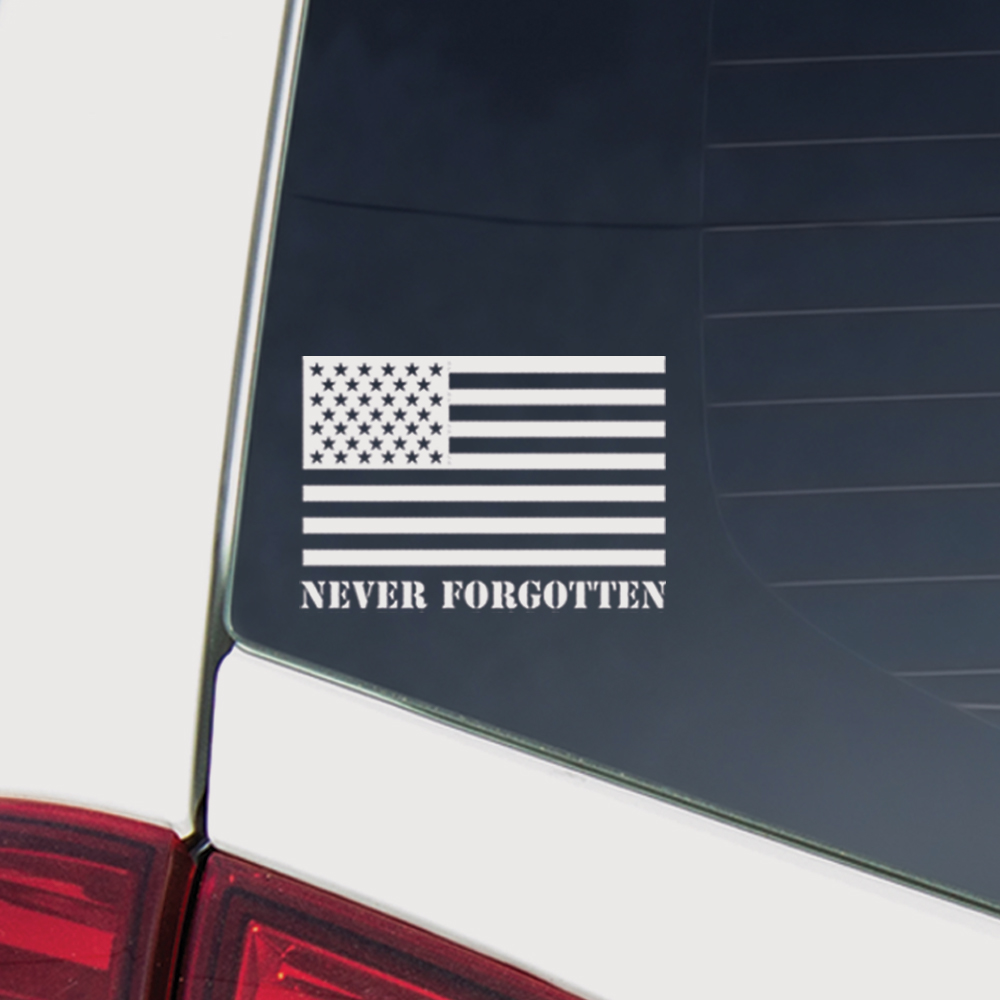 Never Forgotten 🇺🇸 1st Edition Car Decal