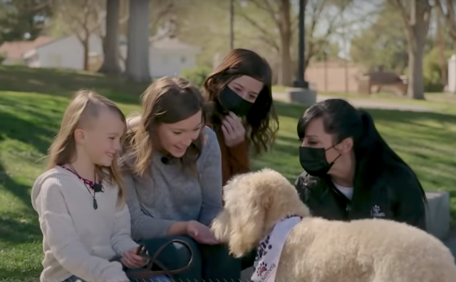 Girl gifted service dog