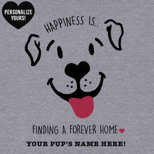Happiness Is A Forever Home Personalized Ideal Tank Heather Grey 🐾 Deal 40% Off!