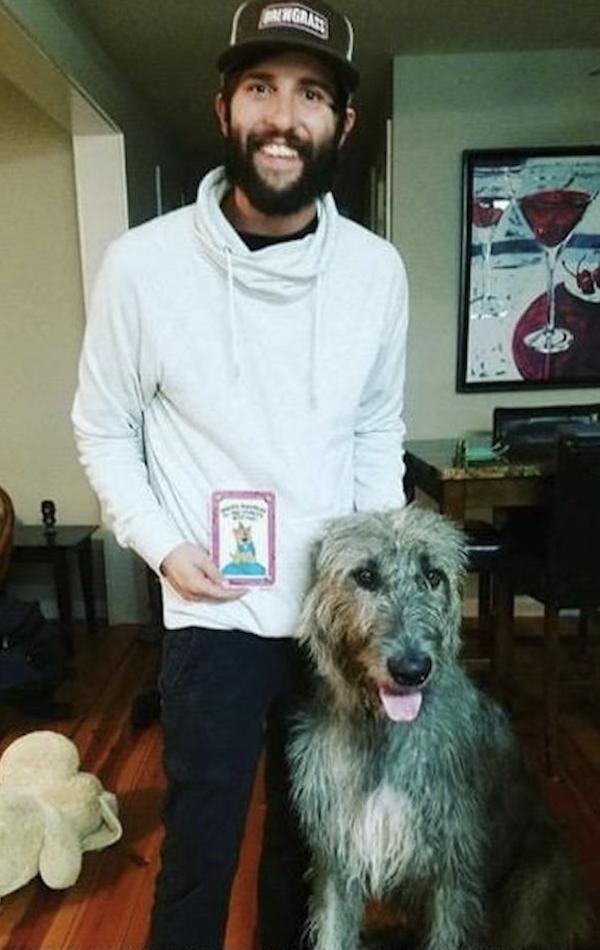 Irish Wolfhound and Human