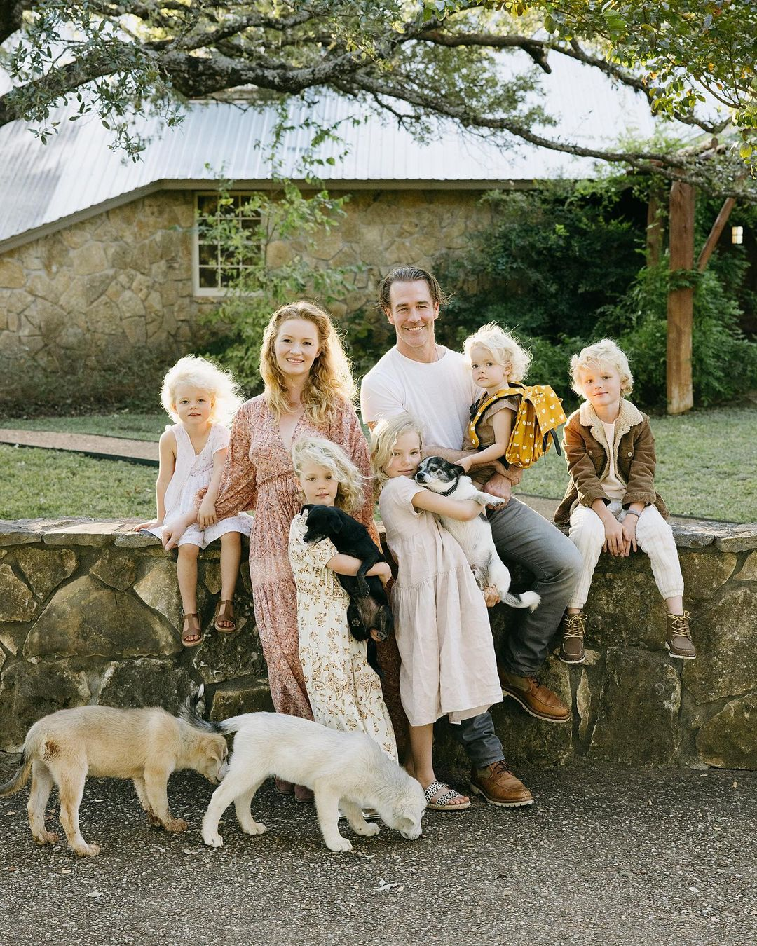 Van Der Beek family and dogs