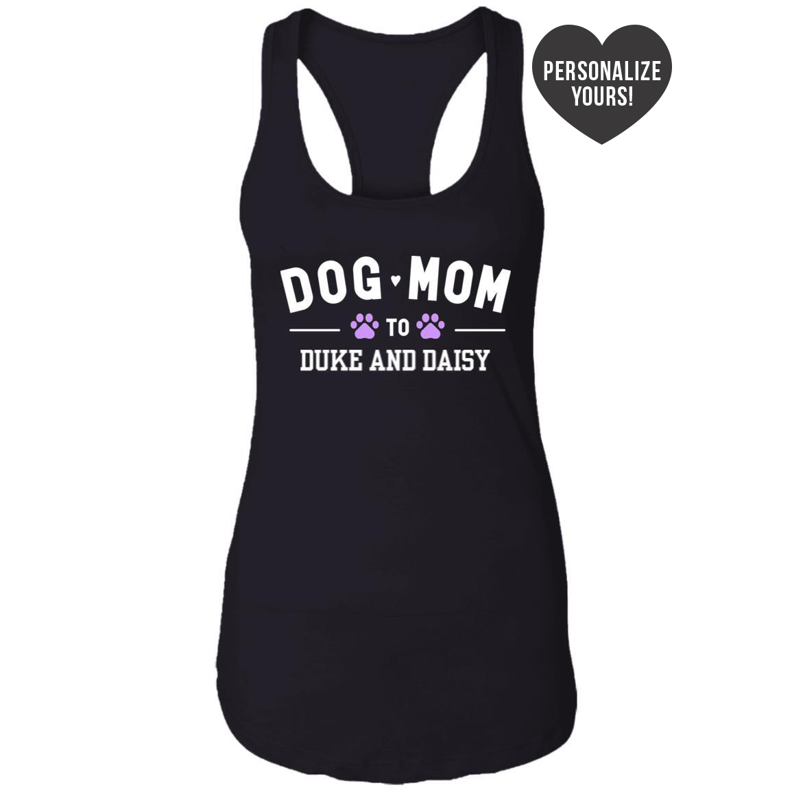 Dog Mom To My Fur Babies 💕 Personalized Ideal Tank- Black 🐾 Deal 40% Off