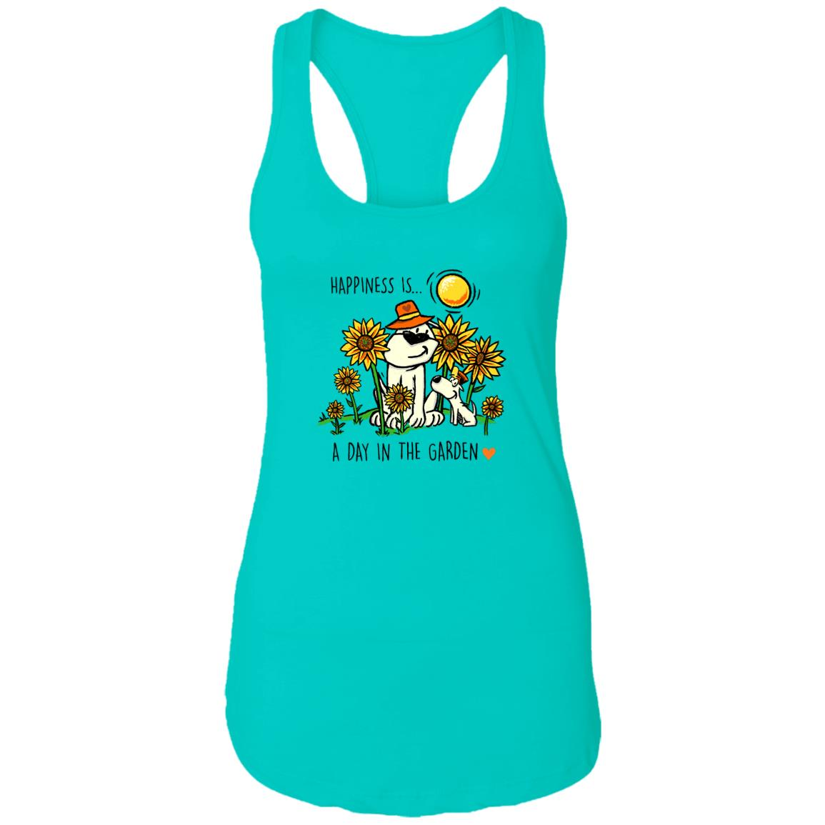 Happiness Is A Day In The Garden  🌻 Ideal Tank- Blue 🐾 Deal 40% Off