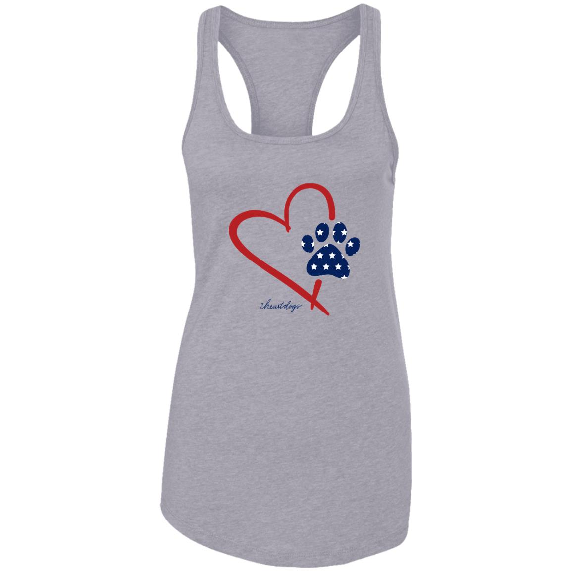 Paw In My Heart ❤️ Ideal Tank- Heather Grey-Deal 40% Off