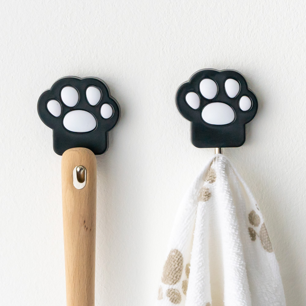 Precious Paws Wall Hanger Set- Black