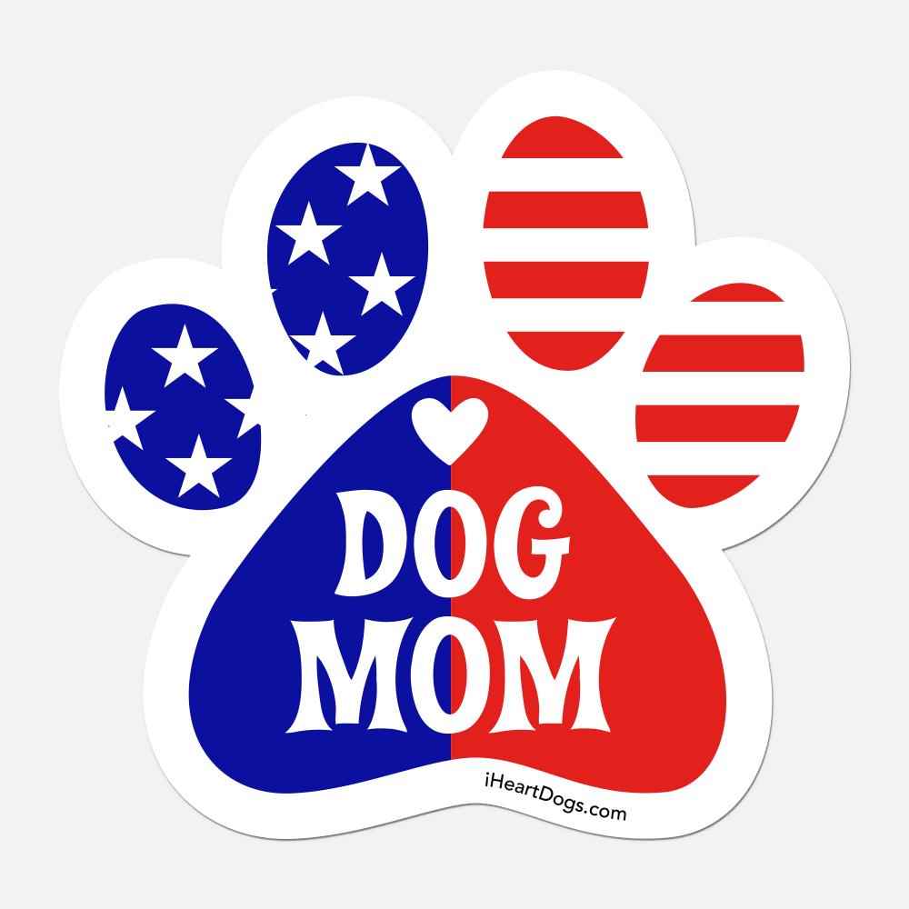 Patriotic Dog Mom 🇺🇲 Car Magnet