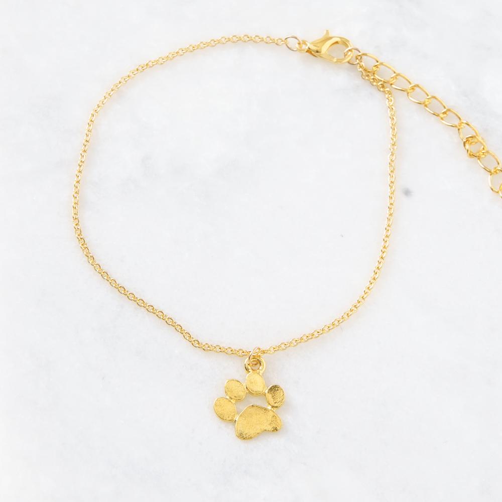 Dainty Paw Bracelet- Gold