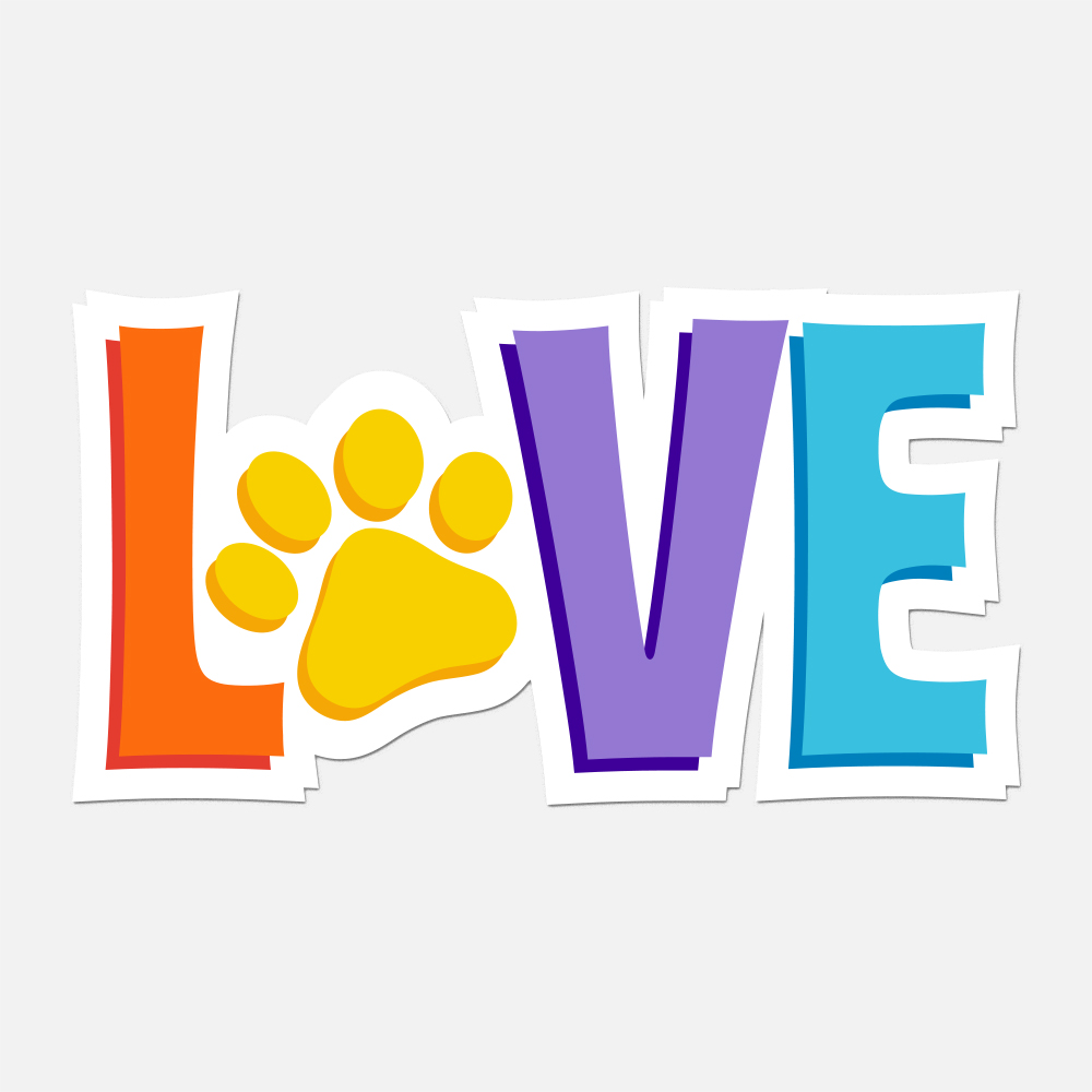 Love is  💕 My Pup Car Magnet