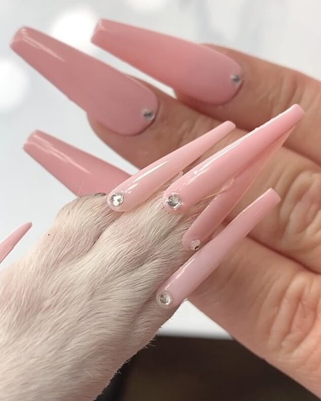 Mom and Coco nails